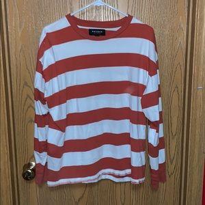 PacSun Orange Striped L/S